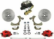 Leed Brakes Rfc1010-3a3x Front Disc Brake Kit W/ Factory Spindles Chevy Tri-five