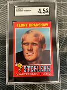 1971 Topps 156 Terry Bradshaw Pittsburgh Steelers Rookie Card Sgc 4.5 Vg/ex+
