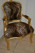 Louis Xv Arm Chair French Style Chair Vintage Furniture Leopard New Model