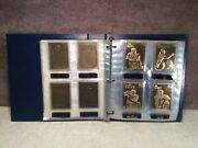 22kt Gold Football Cards The Danbury Mint Deluxe Collectors Album Of 50 Complete