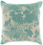 Surya Shadow Floral 20 X 20 Pillow With Poly Insert Fbs001-2020p