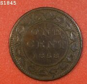1858 Canada Large Cent Vf/xf Free S/h After 1st Item