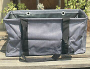 Thirty-one Medium Utility Tote In Charcoal Crosshatch New