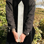 7270g Natural Clear White Quartz Obelisk Crystal Wand Point Healing Mineral