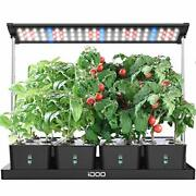 20 Pods Indoor Herb Garden Hyrdroponics Growing System With Led Grow Light And