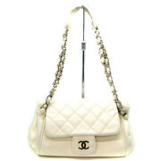 Semi-shoulder Bag Women And039s Razor White System Metal Fittings No.1109