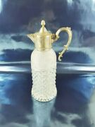 Cut Glass And Silver Plate Italy - Antique Carafe Classic Rare