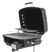 Rv Mounted Bbq Gas Side Mount Portable Propane Grill In Black Foldable Legs