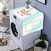 Unicorn Rainbow Washer And Dryer Top Covers, Fridge Dust Proof Cover, Multi-purp