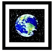 Beauty World Completed Cross Stitch Handmade With Frame