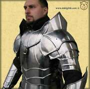 Larp Medieval Phoenix Pair Of Pauldrons With Gorget Knight Shoulder Armor