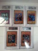 Yu-gi-oh True Dm Ps Metal Devilzoa And Five Sheets Bgs 8.5