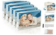 Picture Frame, 4x6 Inch 5 Pack Acrylic Photo Frames Horizontal Magnet 4x6