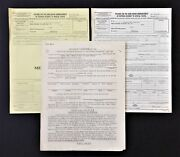 Lot 1940s Orig Wwii 3 Forms Official Travel Reimbursement Mustering Out Pay
