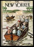 September 3 1933 New Yorker Magazine Framing Cover Young Boys Boat Outing