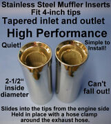High Performance Stainless Steel Marine Muffler Inserts For 4-inch Exhaust Tips