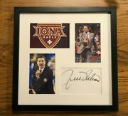 Rick Pitino Autograph Autographed Signed Framed Iona Gaels Basketball