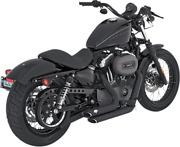 New Vance And Hines Shortshots Staggered Black Exhaust Harley Sportster 04-13 Xl