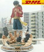 Anime One Piece Monkey D Luffy Action Figure With Light Toys 36cm Christmas Gift