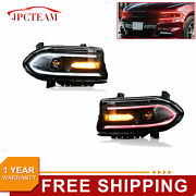 Set2 Led Projector Headlights Rgb Color Change Lamps Fit 15-20 Dodge Charger