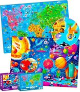 100 Pieces Jigsaw Puzzles For Kids Ages 4-8 By Quokka – Big Floor Puzzles For T