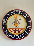 Mary Engelbreit 1999 The Queen Of The Kitchen Ceramic Plate Platter 11 5/8