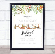 Forest School Outdoor Adventure And Trail Personalised Event Party Decoration Sign