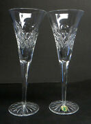 Rare Set Of Disney Mickey Mouse Waterford Crystal Toasting Flutes Champagne Exc