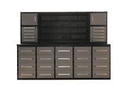 Tool Chest Work Bench Cabinet 10' Storage Cabinet With Workbench 30 Drawers