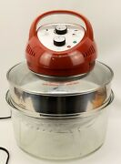 Big Boss 16 Qt Oil-less Fryer/ Convection Oven Red Model 9063 Plus Ring