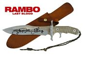 Sylvester Stallone Autographed Last Blood Rambo Knife Asi Proof