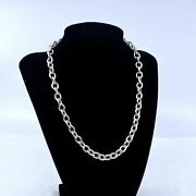 Judith Ripka Sterling Silver 925 17 Rolo Link Chain Necklace