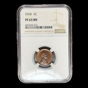 1910 Matte Proof Ngc Pf-63 Lincoln Cent Wheat Penny W9055