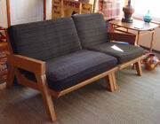 A. Brandt Vintage Sectional Couch Love Seat Ranch Oak Mid Century