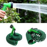 Garden Hose Spray Nozzle Coiled Spiral Car Washing Cleaning Watering Equipment