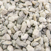 Bulk Landscape Rock And Pebble 25 Cu. Ft. 3/8 In. White Ice For Gardening