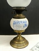 Antique Toy Store Display Advertising Oil Lamp Victorian Musical Instrument Sign
