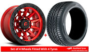 Alloy Wheels And Tyres 18 Fuel Covert D695 For Toyota Hilux 4wd [mk5] 88-97