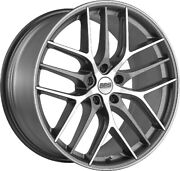 Alloy Wheels 19 Bbs Cc-r Grey Polished Face For Cadillac Cts [mk3] 14-19