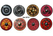 Medieval Wooden Round Shield Roman Knight Cosplay Armor Shields With Different