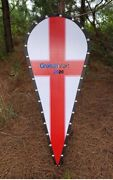 Templar Knight Crusader Wooden Medieval Red Cross Kite Shield With Back Strap -