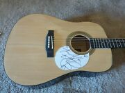 Charlie Watts Rolling Stone Signed Autographed Acoustic Guitar Beckett Certified