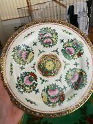 Vintage Porcelain Hand-painted Dinner Plates Set Of 8 Made In China Ex. Cond.