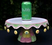 Dept 56 Raised Cake Plate Stand Dangling Sparkling Letters Ice Cream Cone 11