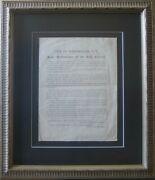 Abraham -- Assassination / City Of Portsmouth N.h Joint Resolutions Signed 1865