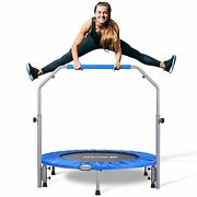 Bcan 48 Foldable Mini Trampoline For Adults Max Load 440lbs Fitness Rebound...