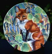 Fitz And Floyd Fox Image 9 Salad Plate Red Fox High Sierra Service Outstanding A+