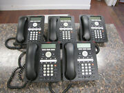 Lot Of 5 Avaya 1608-i Voip Office Business Phones With Stands - Quantity
