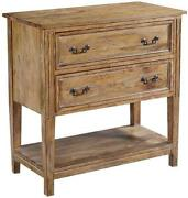 Chest Of Drawers Lafitte Beachwood Solid Wood Reeded Legs Open Shelf 2 D