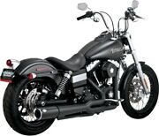 Black Pro Pipe Full Exhaust Vance And Hines 47525 12-17 Harley Dyna